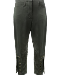 Fendi Eyelet Cropped Trousers