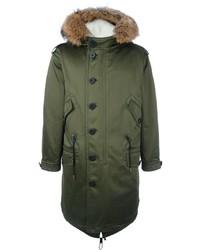 Burberry Fur Collar Parka