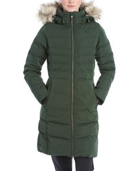 Katie quilted parka with faux fur trim medium 834604