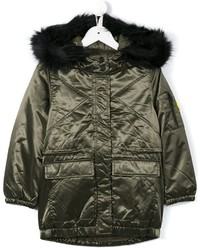 Kenzo Kids Fur Hooded Padded Parka