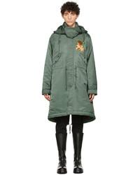 Undercover Khaki Printed Fishtail Coat