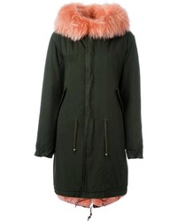 Mr mrs italy rabbit and raccoon fur lined parka medium 1213636