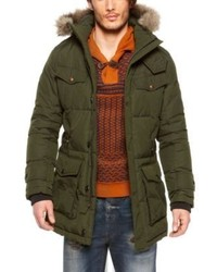 Hugo Boss Obend W Heavyweight Down Blend Parka With Carry On Straps And Detachable Faux Fur Hood