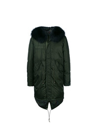 Padded parka with fur trimmed hood medium 7411806