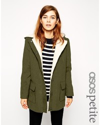 Asos Petite Patched Wool Parka