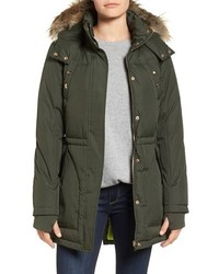 Water resistant faux fur trim parka medium 1213634