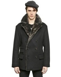 Dolce gabbana double breasted wool pea coat medium 59967