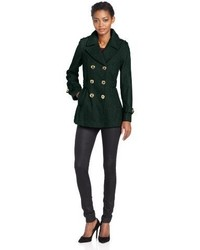 Miss sixty db pea coat with pleated back detail medium 352705