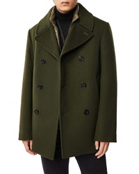 Mackage Noah Wool Blend Peacoat With Removable Vest