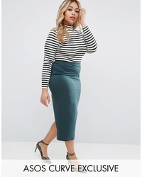 Asos Curve Curve Midi Pencil Skirt In Jersey