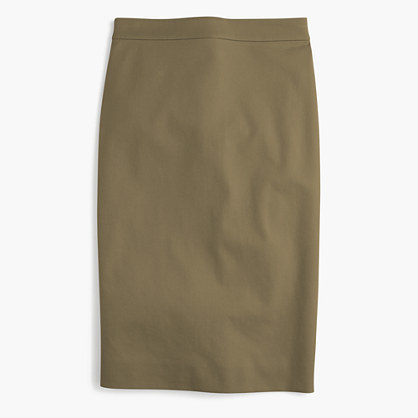 0ee53f535cf4 J.Crew Tall No 2 Pencil Skirt In Two Way Stretch Cotton, $79 | J ...