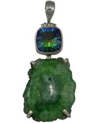 Made on Earth Green Quartz Pendant