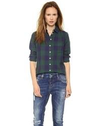 Large square plaid easy shirt medium 78220