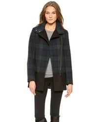 Berta plaid wool coat medium 88899