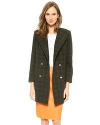Double breasted plaid coat medium 88900
