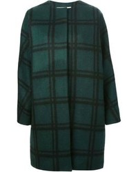 Oversized checked coat medium 88902