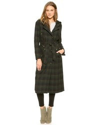 Textured plaid maxi coat medium 88892