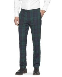 Dark Green Plaid Dress Pants for Men | Men's Fashion