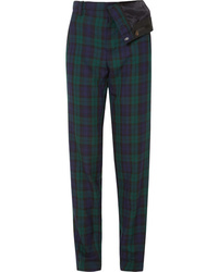 Y/Project Asymmetric Plaid Twill Straight Leg Pants
