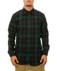 Blc The Plaid Ls Buttondown Shirt In Green