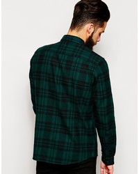 Asos Brand Shirt In Long Sleeve Shirt With Brushed Mid Scale Check ...