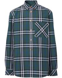 Burberry Check Print Button Down Shirt