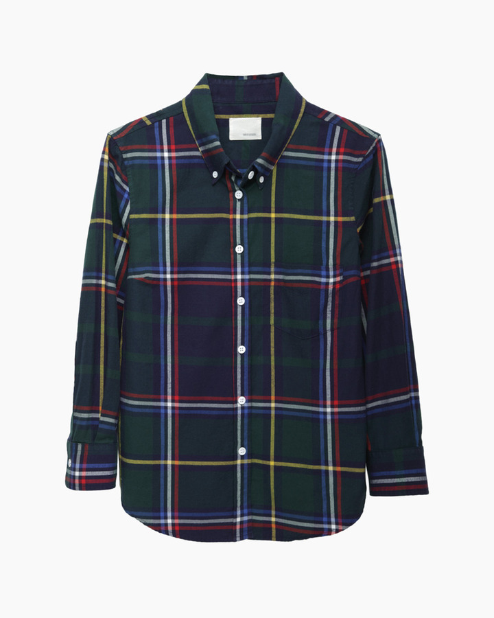 Band Of Outsiders Cropped Sleeve Plaid Shirt | Where to buy & how ...