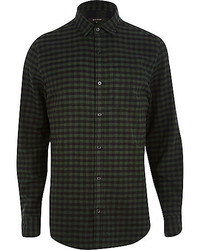 River Island Green Gingham Check Shirt