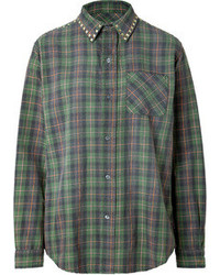 The prep school cotton shirt in forge medium 89675