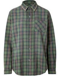 Current/Elliott The Prep School Cotton Shirt In Forge