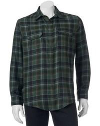 Classic fit plaid flannel performance button down field shirt medium 850964