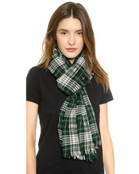 Dark Green Plaid Scarf