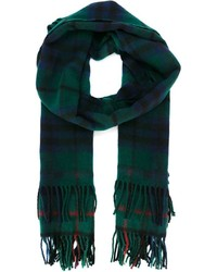 Comme des Garcons Comme Des Garons Shirt Checked Fringed Scarf