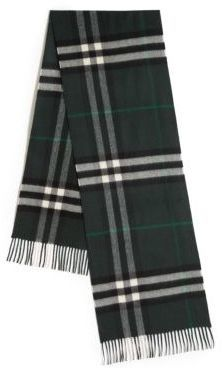 Giant Check Cashmere Scarf. Dark Green Plaid Scarf by Burberry 9fd38b93ddbc5