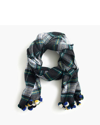 Plaid pom pom scarf medium 385382