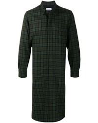 Kenzo Longline Check Plaid Overshirt