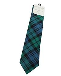 Dark Green Plaid Tie