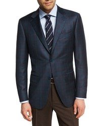 Canali Plaid Super 130s Wool Sport Coat