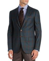 Plaid super 140s wool sport coat medium 5267163