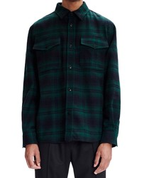 A.P.C. Leo Plaid Wool Blend Overshirt