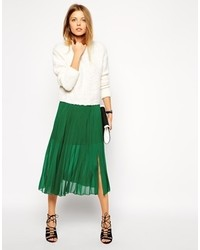Asos Collection Pleated Midi Skirt   Where to buy & how to wear