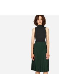 Everlane The Pleated Midi Skirt