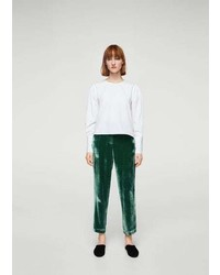 Mango Velvet Pleated Trousers