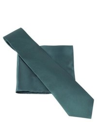 City of London Tie And Pocket Square Set Green