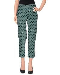 Dark Green Polka Dot Skinny Pants
