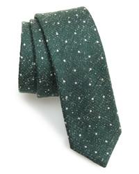 The Tie Bar Redwood Dot Silk Tie