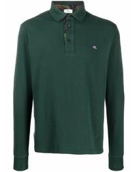 Etro Long Sleeved Cotton Polo Shirt