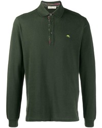 Etro Long Sleeved Polo Shirt
