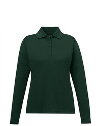 Ash City Core 365 Performance Forest Green Pinnacle Long Sleeve Pique Polo  Shirt 1eceea1225