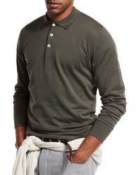 Brunello Cucinelli Long Sleeve Polo Shirt